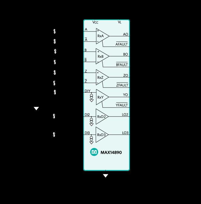 max14890e典型电路框图